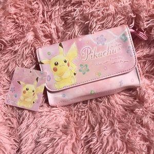 Pikachu Pokemon center make up bag Japan💕